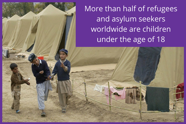 More than half of refugees and asylum seekers worldwide are children under the age of 18
